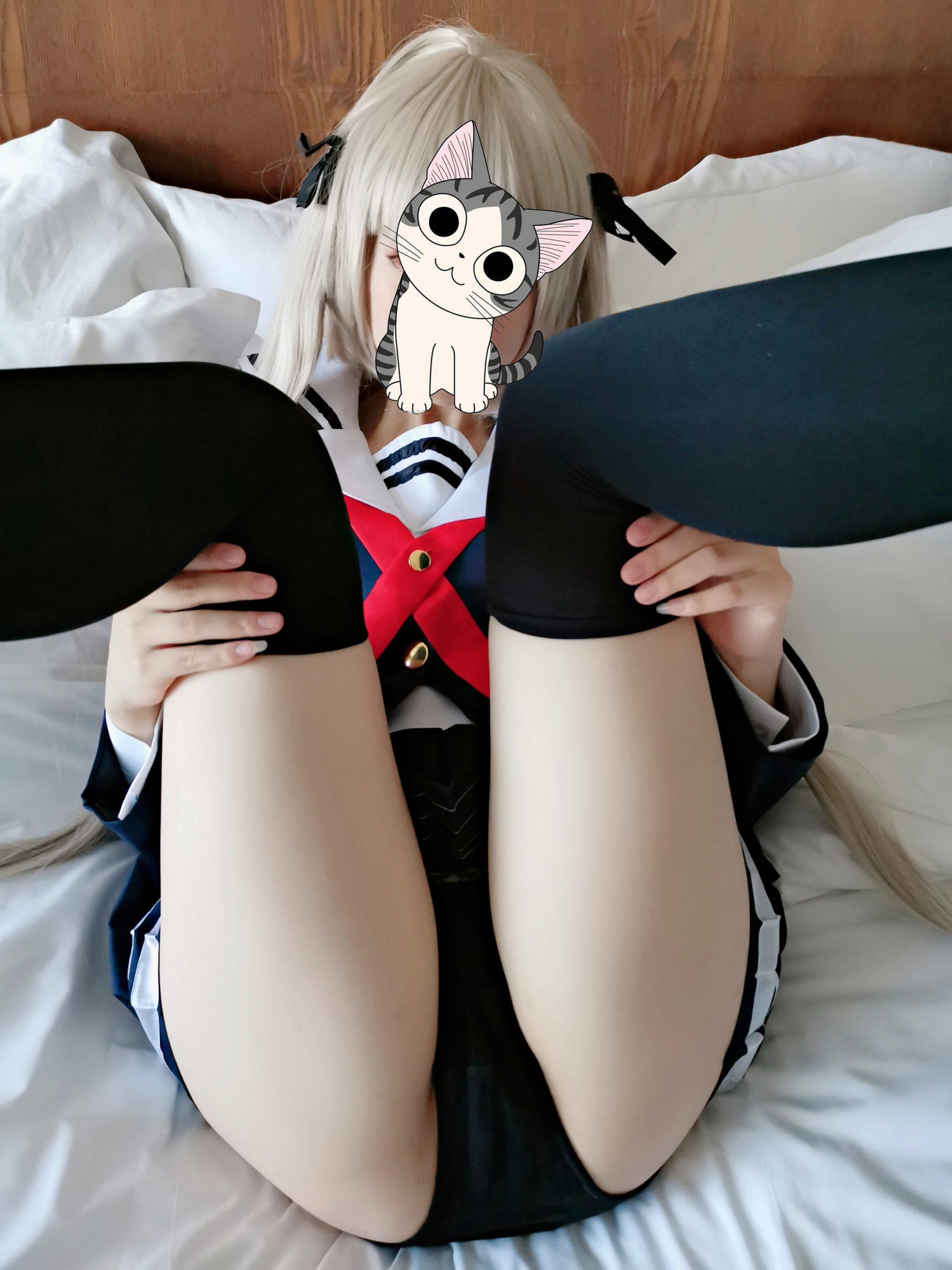 Cosplay福利 奈奈junana 全套福利过膝袜JK